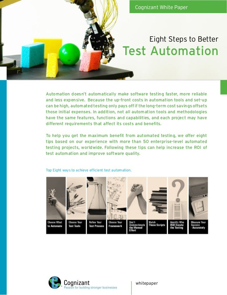 Cognizant White Paper                                                                  Eight Steps to Better              ...