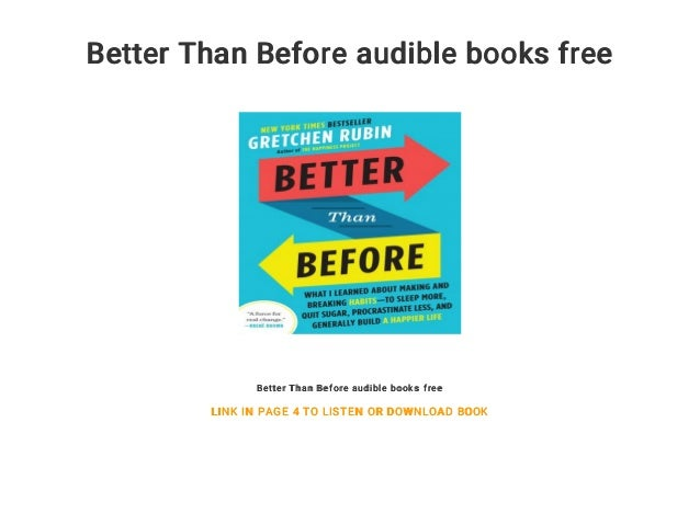 Better Than Before audible books free