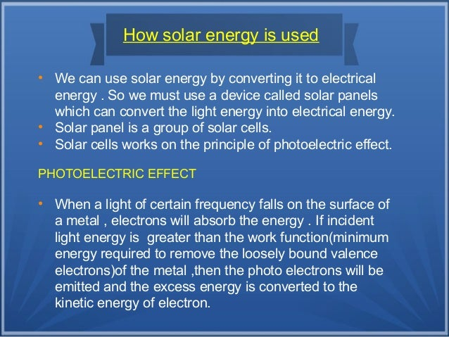 4 Common uses of solar energy in daily life
