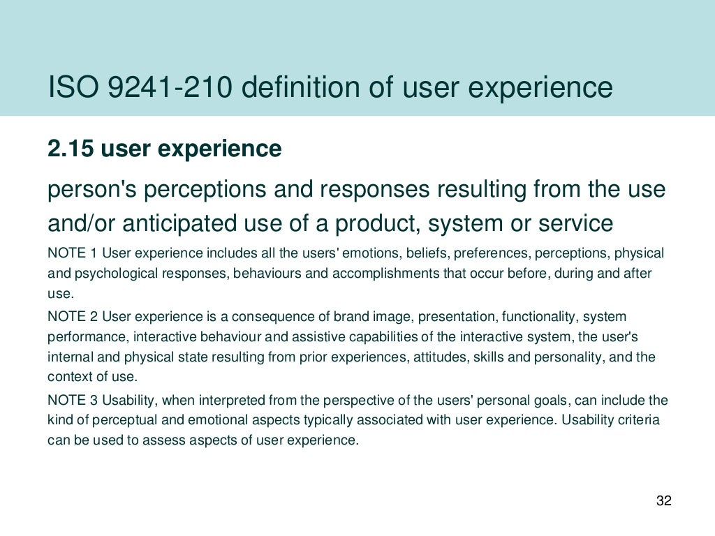 iso definition of user