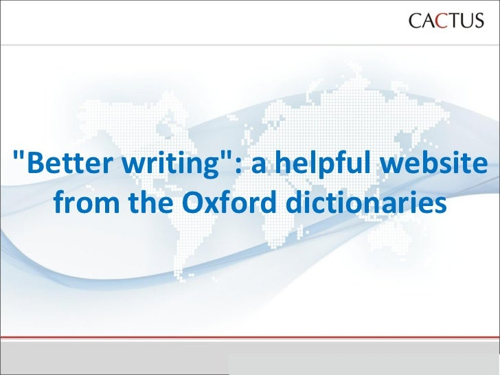 """Better writing"": a helpful website from the Oxford dictionaries"