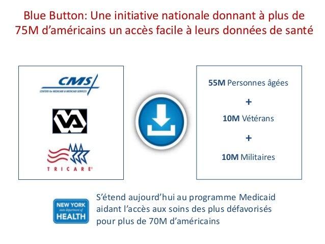 """Un """"Blue Button"""" pour les américains: Une initiative politique du Président Obama en Aôut 2010 Blue Button: Une initiative..."""