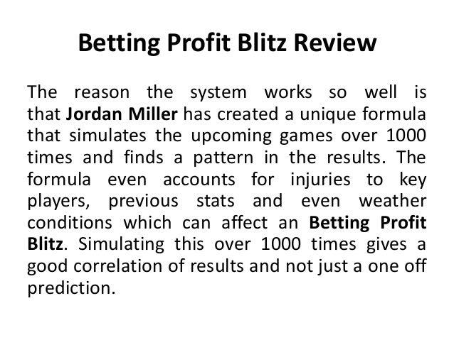 betting profit blitz review