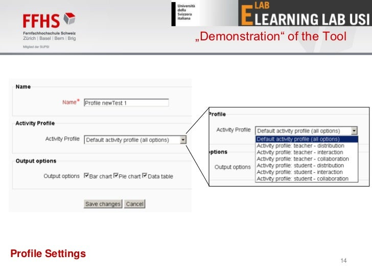 """""""Demonstration"""" of the ToolProfile Settings                                            14"""