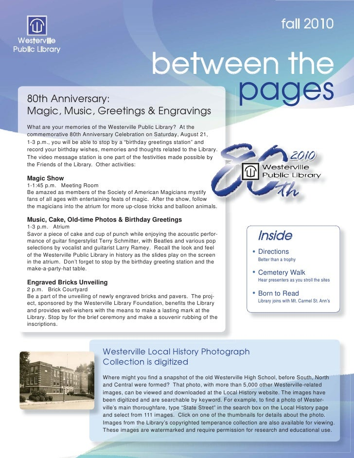 Between the Pages: Fall 2010