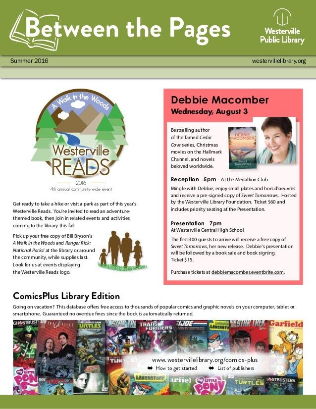 www.westervillelibrary.org/comics-plus How to get started List of publishers Summer 2016 westervillelibrary.org Between th...