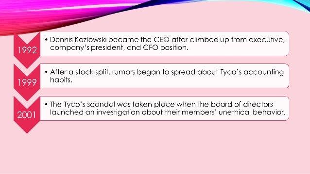 Business Ethics TYCO Case Study Slide 3