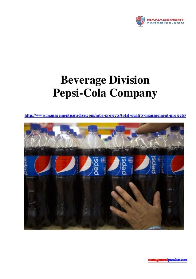 a company overview of pepsi cola 2 pepsico and its products 21 company profile 22 pepsi-cola 3 market  definition for pepsi-cola 31 beverages in germany 32 competitors 33  customers.