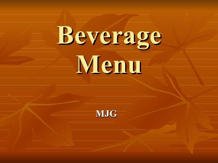Beverage Menu MJG