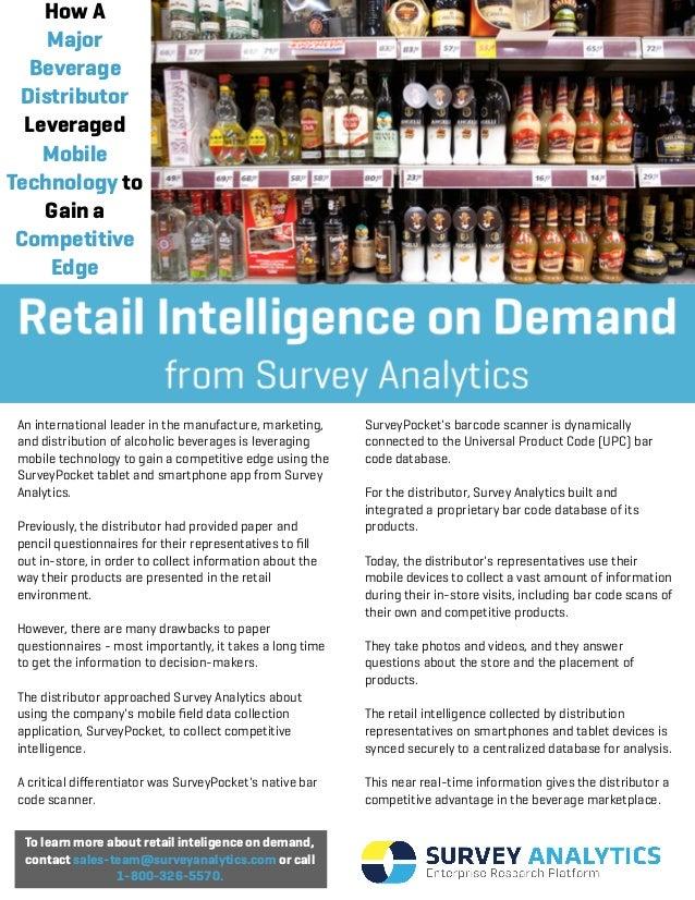 How AMajorBeverageDistributorLeveragedMobileTechnology toGain aCompetitiveEdgeTo learn more about retail inteligence on de...