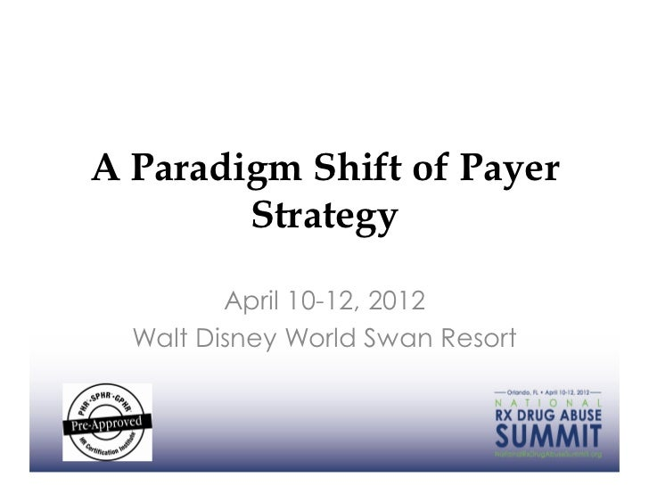A Paradigm Shift of Payer        Strategy         April 10-12, 2012  Walt Disney World Swan Resort