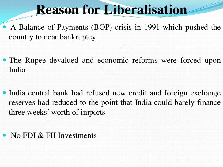 essay on economic liberalisation in india