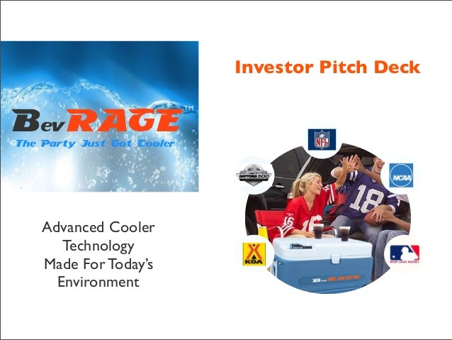 Investor Pitch Deck TM  Advanced Cooler Technology Made For Today's Environment  TM