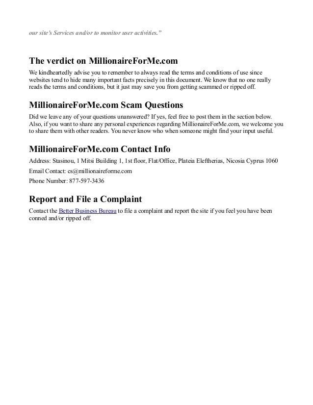 Millionaireforme dating site
