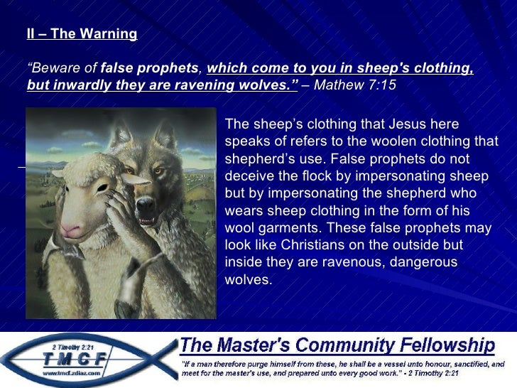 how to avoid false prophets