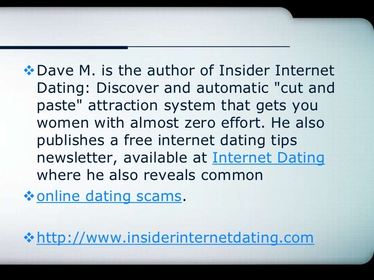 Most common online dating scams