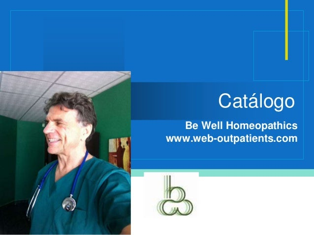 Company LOGO Catálogo Be Well Homeopathics www.web-outpatients.com