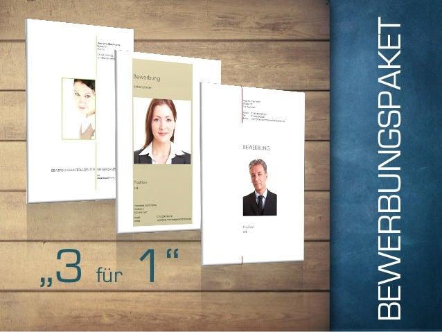 """BEWERBUNGSPAKET """"3 für 1"""""""