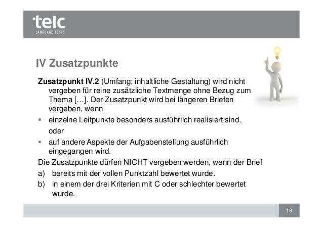 Bewertung Des Schriftlichen Ausdrucks Telc Deutsch B1 Und Telc Deuts