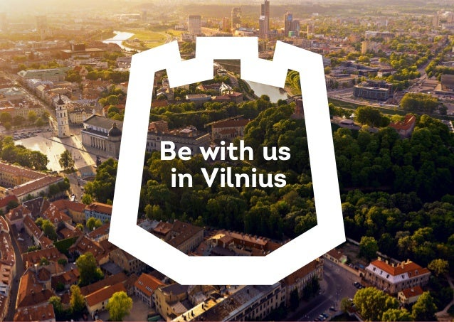 Be with us in Vilnius