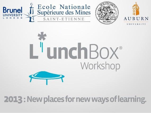 18-23 March 2013L*unchBox Workshopbe.wo