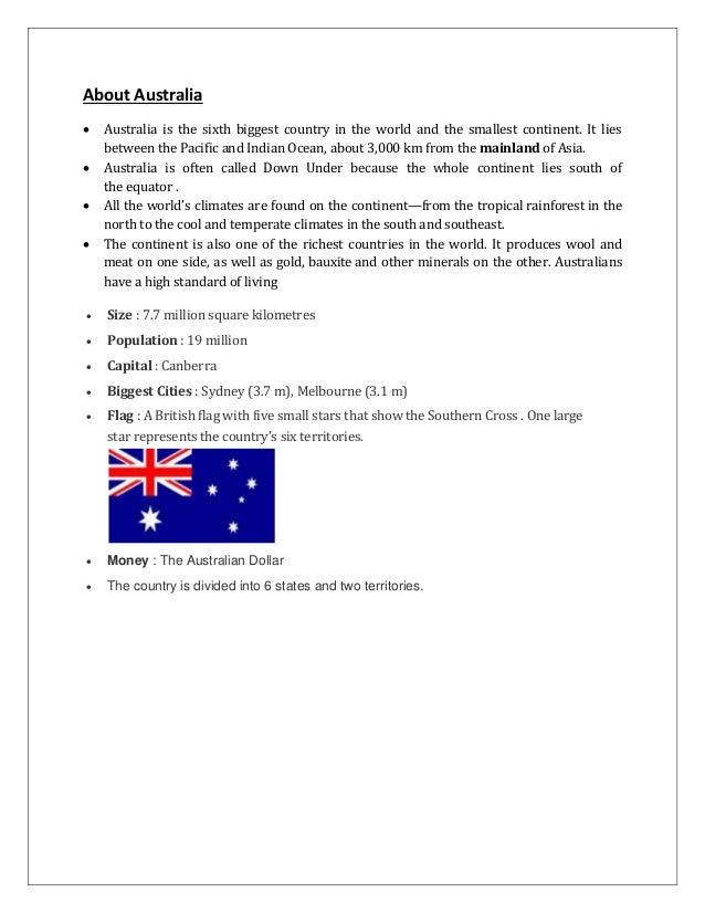 An analysis of australian