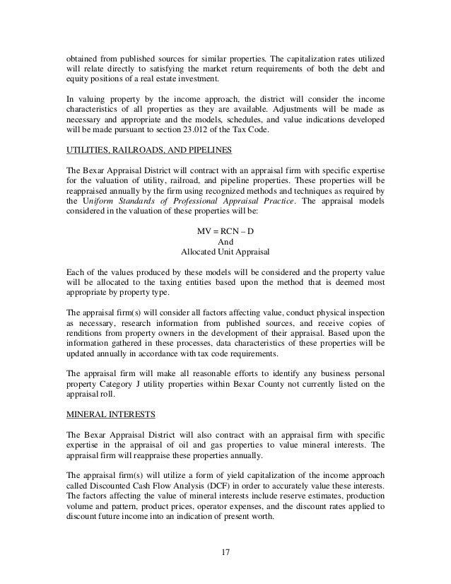 Bexar Appraisal District Reappraisal Plan