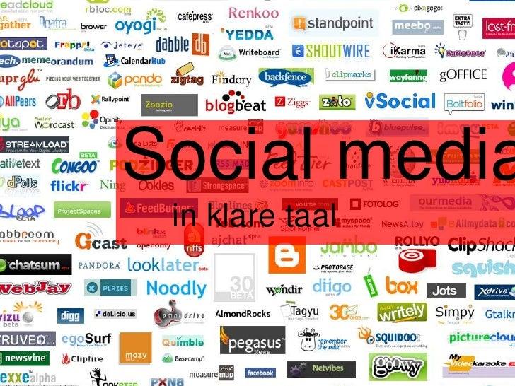 Social media in klare taal