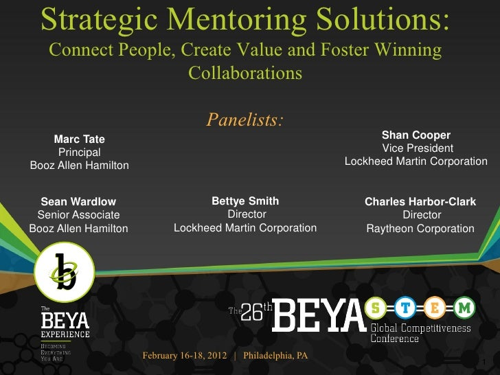 Strategic Mentoring Solutions:   Connect People, Create Value and Foster Winning                    Collaborations        ...