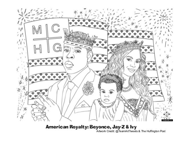 Beyonce coloring-page