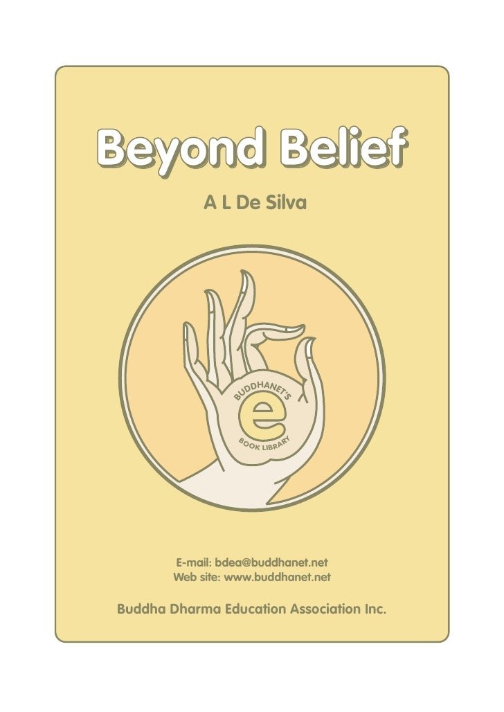 Beyond Belief              A L De Silva                        e                        DHANET                      UD    ...