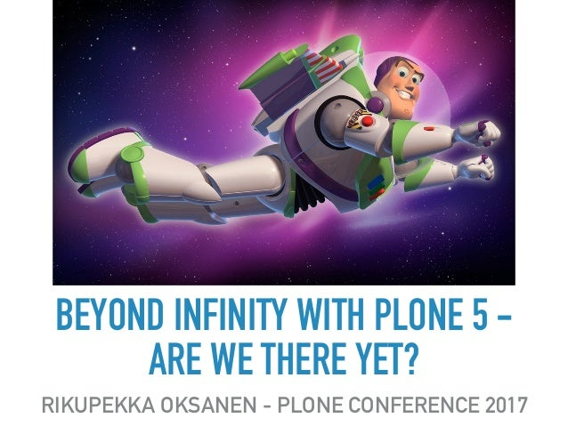 BEYOND INFINITY WITH PLONE 5 - 