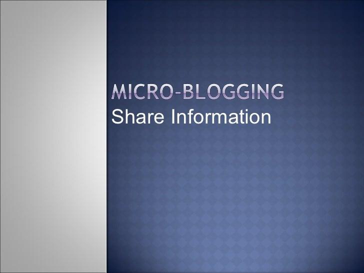 Share Information