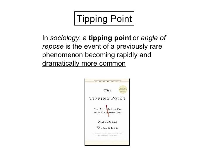 part i beyond the chc tipping point back to the future  3 in sociology a tipping point