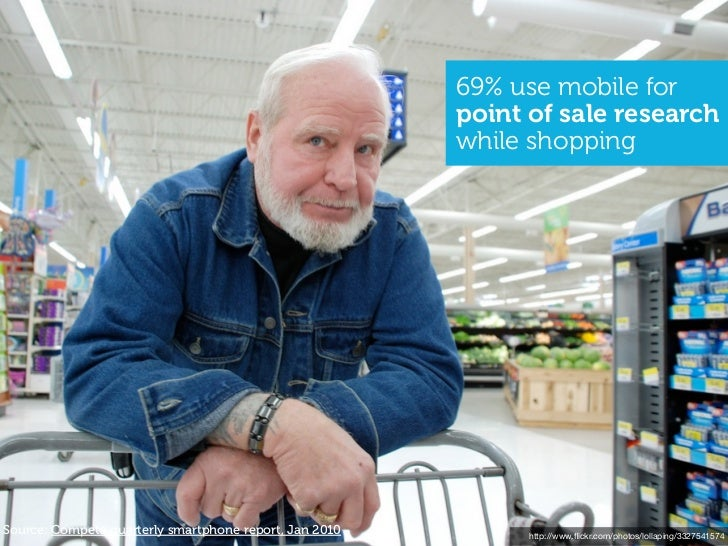 69% use mobile for                                                        point of sale research                          ...