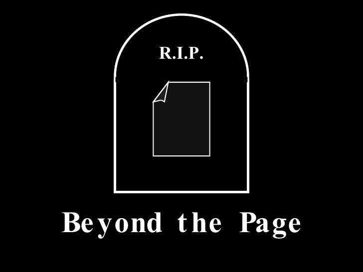 R.I.P. Beyond the Page