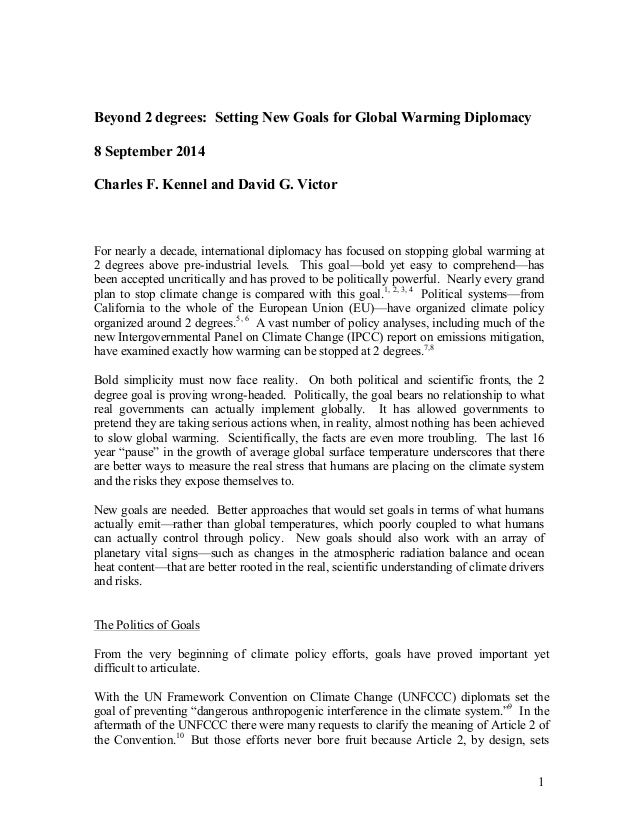 """""""Global Warming"""": Topics for a Research Paper"""