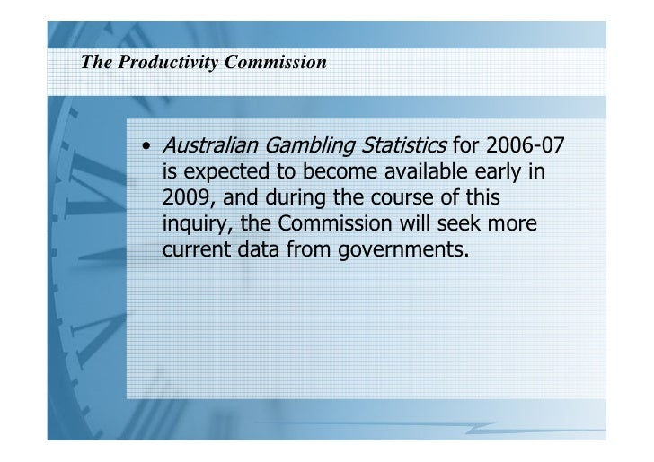 Gambling productivity commission inquiry team building casino