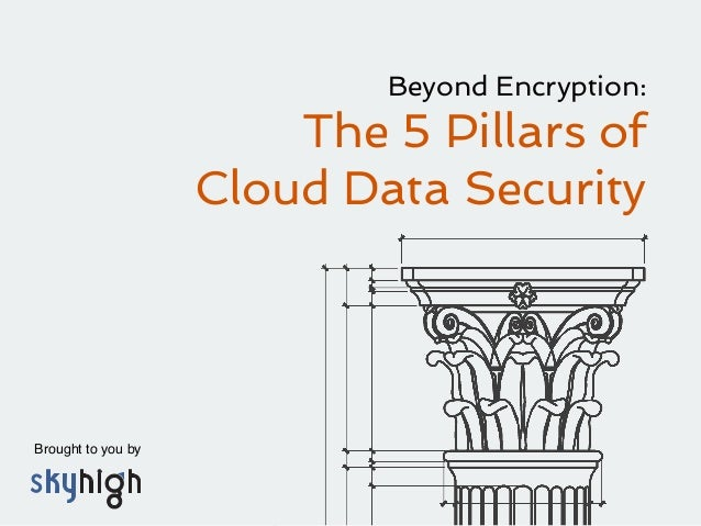 Brought to you by ! Beyond Encryption: The 5 Pillars of Cloud Data Security