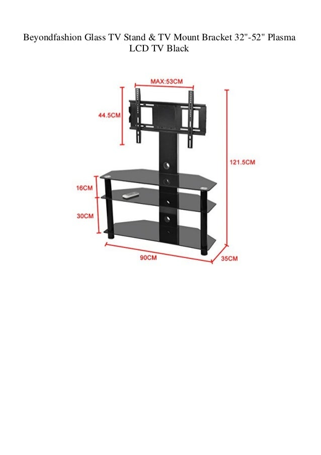 Beyondfashion Glass Tv Stand Tv Mount Bracket 32 52 Plasma Lcd Tv B