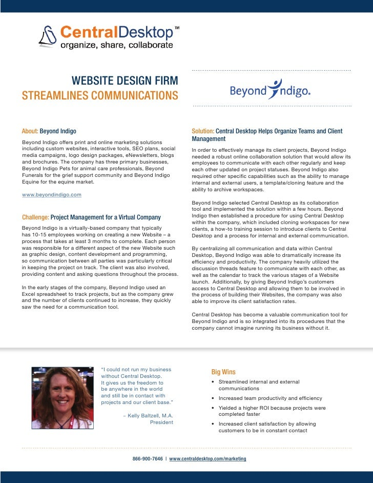 WEBSITE DESIGN FIRMSTREAMLINES COMMUNICATIONSAbout: Beyond Indigo                                                 Solution...