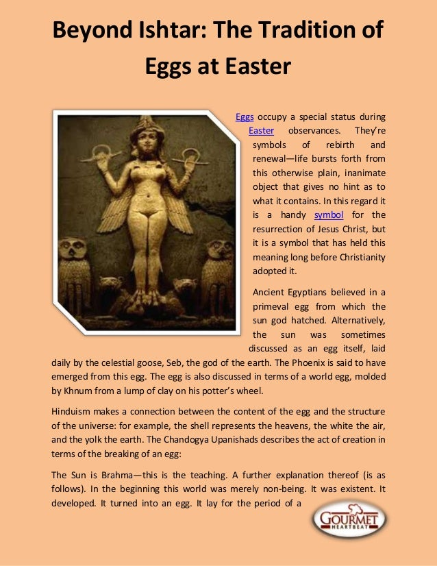 Beyond Ishtar The Tradition Of Eggs At Easter