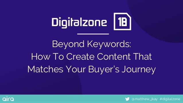 #digitalzone@matthew_jkay Beyond Keywords: How To Create Content That Matches Your Buyer's Journey