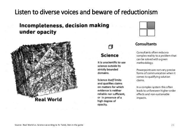 Listen to diverse voices and beware of reductionism 24 John Browne, ex-CEO BP