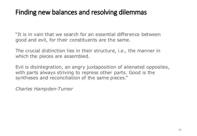 Finding new balances and resolving dilemmas 57 Growth Sustainability Quality of life Risks of climate tipping points