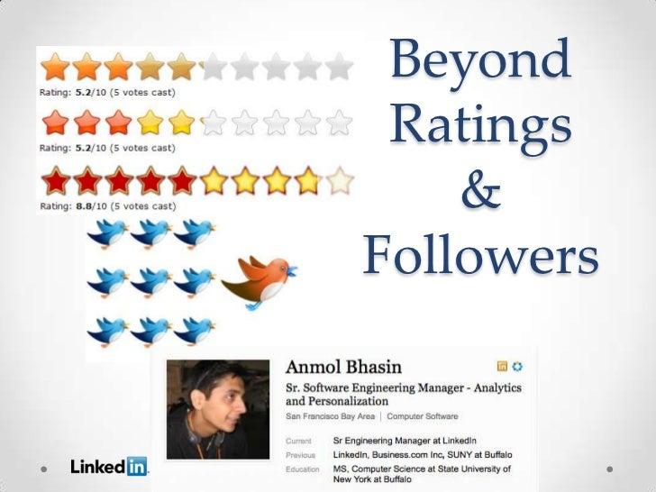 Beyond              Ratings                 &             Followers   Anmol Bhasin     Sr. ManagerAnalytics Engineering ww...