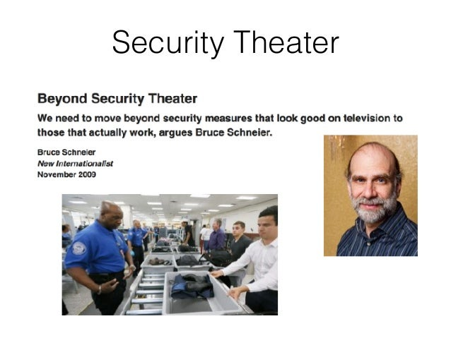 Beyond Security Theater Slide 3