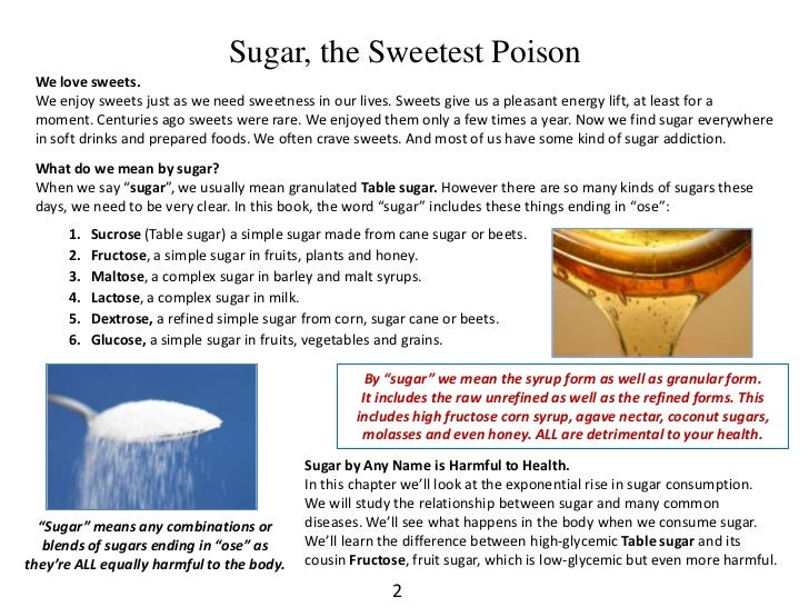 sugar consumption and its detrimental effects