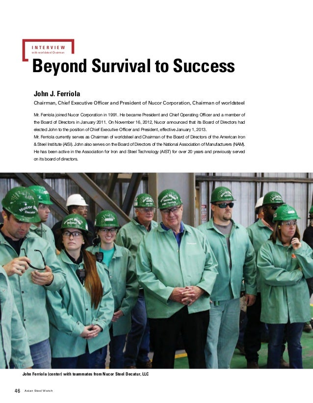 Beyond survival to success ( John J  Ferriola)