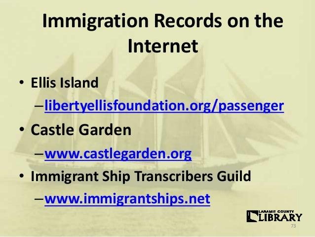 Genealogy beyond the basics for Castle garden immigration records